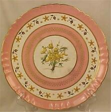 Minton Wildflowers Plate Yellow Flowers Pink Bands Porcelain Bailey Banks Biddle