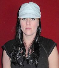 """Hats With Hair Attached NEW For Adults Kids Fun Wig AND Hat  Chemo  """"Blue Night"""""""
