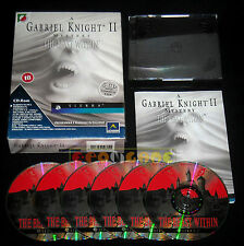 GABRIEL KNIGHT II 2 Pc Versione Italiana Big Box ••••• COMPLETO