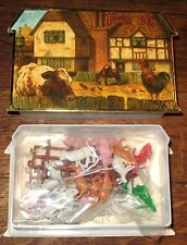 MINIATURE FARM ANIMALS Barnyard GIFT BOX SET HTF MINT TOY B. Shackman Company