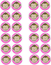 Cheeky Monkey Comestibles Cupcake / Hada Cake Toppers X 24