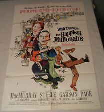 """THE HAPPIEST MILLIONAIRE"" DISNEY 1968, 1SH Poster, Style B"