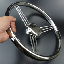 13-1/2'' 9 Spoke Stainless Steel Marine Boat Steering Wheel 15° Distinctive