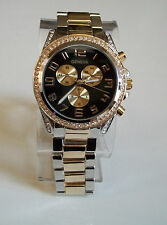 GENEVA SILVER/GOLD FINISH BRACELET  WOMEN'S BOYFRIEND WATCH