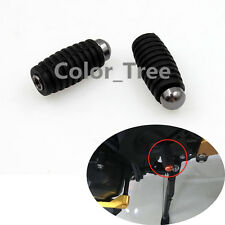Gray FXCNC Motorcycle Rubber Footrests Footpeg Pedals Rear set Foot pegs