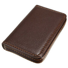Fashion Leather Business ID Credit Card Holder Case Wallet with Magnetic Shut