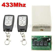 4 Channels Wireless Remote Control Relay Switch Receiver & 2 Transceiver 12V DC