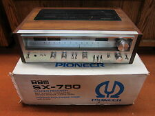 Vintage Pioneer Stereo Receiver AM FM Silver Aluminum Face SX-780
