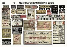 Verlinden 1/35 Allied Road Signs WWII Normandy to Berlin [Printed Diorama] 19