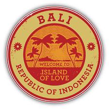 """Bali Island Indonesia Travel Stamp Car Bumper Sticker Decal 5"""" x 5"""""""