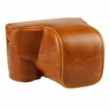 PU Leather Camera Case Bag For Sony A6000 ILCE-6000L NEX-6 with 18-55 mm Lens