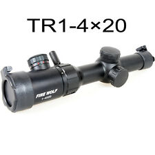 TR1-4×20mm Red Green IR Mill-Dot Reticle Laser Sight Rifle Scope