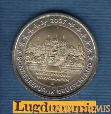 2 euro Commémo - Allemagne 2007 Chateau Schwerin D Munich Germany