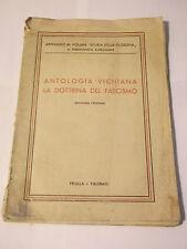 """ANTOLOGIA VICHIANA """" LA DOTTRINA DEL FASCISMO """" PRIULLA * PALERMO  L-30"""