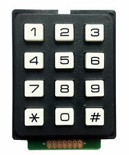 12 Digit Keypad 3 x 4 Array Suitable for Arduino and Electronic Projects