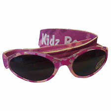 Kidz Banz Sunglasses Kids Girls Shades Adjustable Strap Pink Diva Camo 2-5yrs