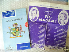 1934 Theatre Programme+ Flyer 1934- YES MADAM?a musical comedy- Jack Waller