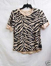 Rebecca Taylor Women's Tiger Sequin Top, L