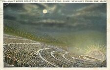 Hollywood Bowl CA~Symphony Under the Stars~Standing Room~Moon~1931 Postcard