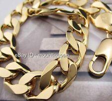 Mens 24k Solid Yellow Gold Filled Bracelet