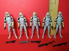 Star Wars The Clone Wars Animated Series Basic Trooper Army Builder Lot Blasters