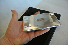 VINTAGE BIRMINGHAM LARGE & SLIM KENTS LTD STERLING SILVER CIGARETTE CASE