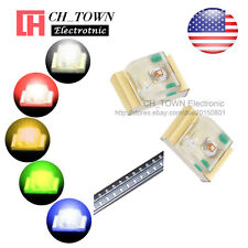 5 Lights 100PCS 0805 (2012) SMD SMT LED Diodes White Red Yellow Green Mix Kits