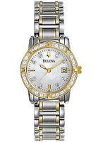 New Bulova Diamond Ladies Two Tone Dress Watch  98R107