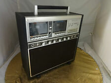 Vintage Hitachi Double Cassette & 8 Track Player Model: TRQ-100KW