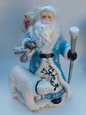 Merry Christmas Dillard Signature Home Collection Antarctic Santa Centerpiece