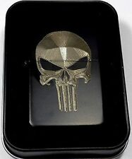 Punisher Skull Black Gift Engraved Cigarette Lighter Biker Gift LEN-0059