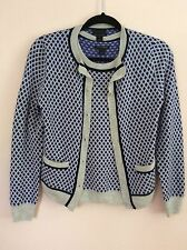 J.CREW COLLECTION Featherweight Cashmere In Diamond Dot Cardigan & Shell Set S