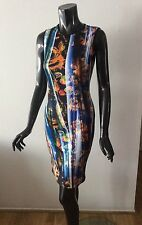 NWT CLOVER CANYON Draped Rose Floral neoprene bodycon dress size S - $316