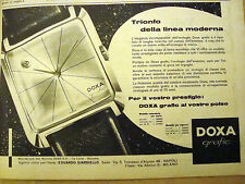 PUBBLICITA' ADVERTISING 1961 OROLOGIO DOXA GRAFIC (T38)