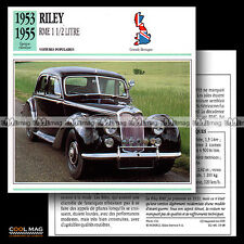 #019.08 RILEY RME 1 1/2 LITRE 1.5 L (1953-1955) - Fiche Auto Classic Car card