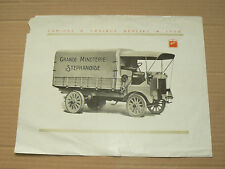 Prospectus Camion BERLIET CAT 22HP 1913  Minoterie  brochure catalogue truck