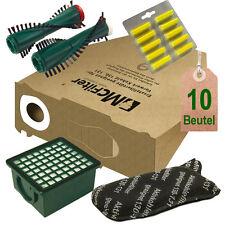 Filtertüten Filter Bürsten Duft geeignet für Vorwerk Kobold 130 131