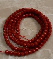 "Sea Coral Sardinia Red Round Small Beads 2 MM 1 Strand (15/16"")"