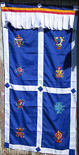 TRADITIONAL TIBETAN BUDDHIST DOOR CURTAIN EMBROIDERED 8 AUSPICIOUS SYMBOLS NEPAL
