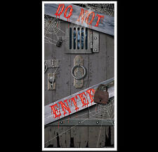 Spooky Halloween DUNGEON DOOR COVER-DO NOT ENTER Party Prop Building Decoration