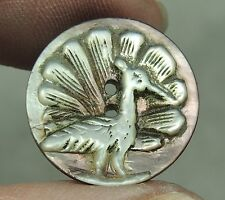 CARVED MOP PEARL SHELL BUTTON ~ BIRD