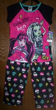 MONSTER High Pajamas Girls 7/8 NeW Shirt Pants Pjs Set Draculaura Frankie Stein