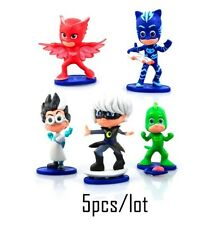 PJ MASKS SUPER PIGIAMINI 5 PCS SET TOY PERSONAGGI ACTION FIGURE CATBOY & FRIENDS