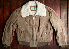 VTG 70s WRANGLER OUTERWEAR SUEDE LEATHER SHERPA LINED WESTERN JACKET USA LARGE