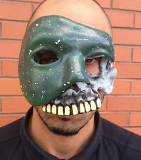 The Purge Anarchy 2 Style Mask Halloween Fancy Dress Costume 1, 3 Green Skull