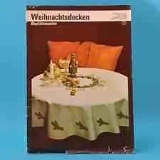 Weihnachtsdecken   Abplättmuster   Verlag für die Frau # 2106   DDR 1982 D