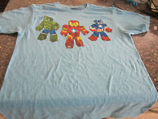 Marvel Comics T-Shirt - Light Blue - Small - 34/36 - Hulk/Cap/Iron Man