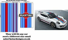 Le Mans Martini Racing style Stripe and Logo Porsche 911 Sticker decal A648L