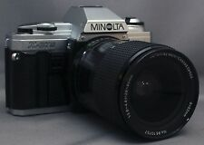 MINOLTA X-370 35mm VINTAGE SLR Film Camera MC F3.8 28-80mm Lens Very CLEAN!