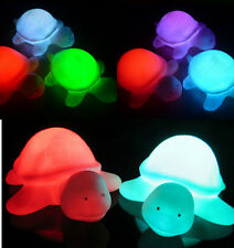 1X Baby Kids Toy Multi Color Changing Tortoise Flashing LED Christmas Lamp 2016#